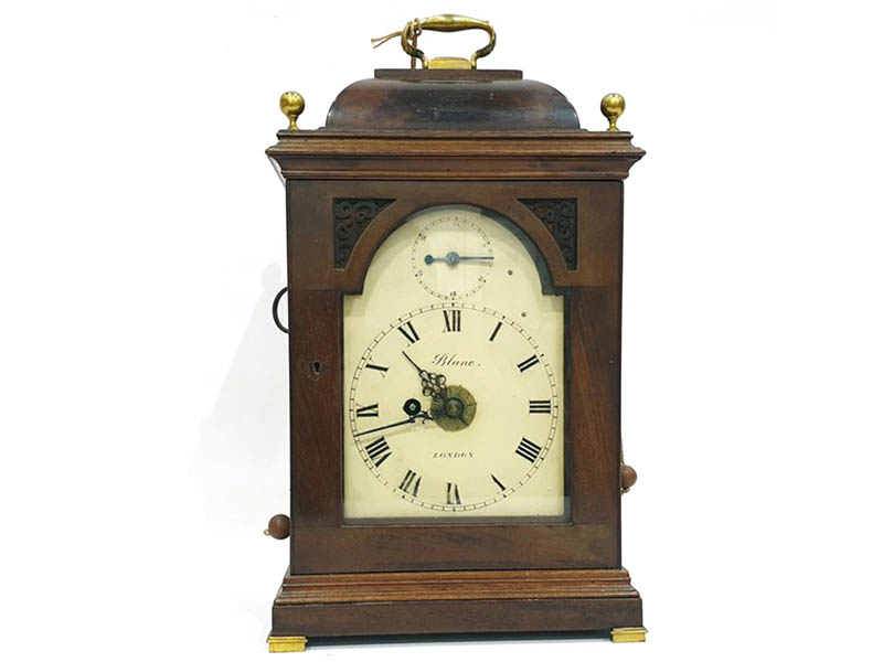 The-Cotswold-Auction-Company-19th century mahogany bracket clock sold for £1,700