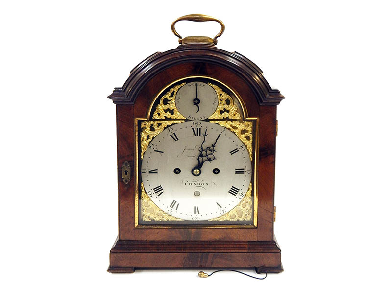 The-Cotswold-Auction-Company-George III mahogany repeater bracket clock sold for £3,600