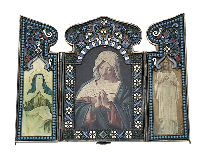 The-Cotswold-Auction-Company-19th century russian and silver triptych sold for £4,000