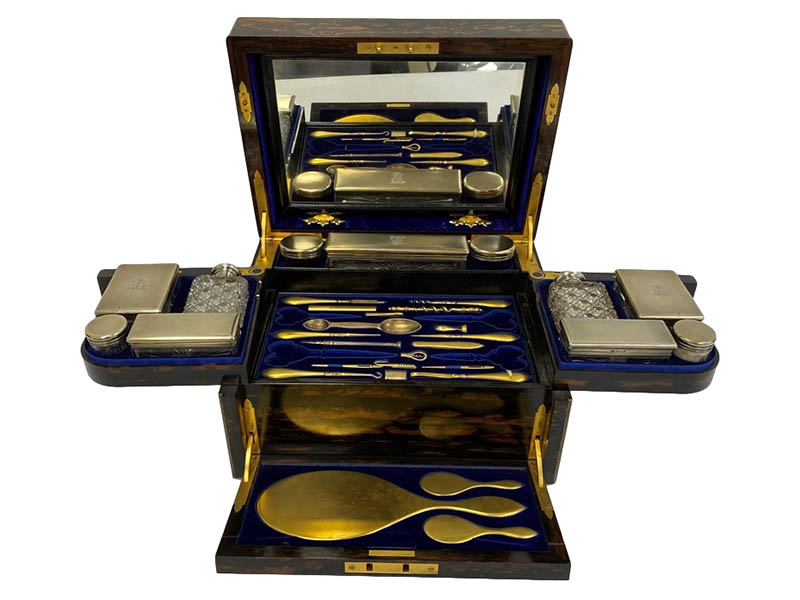 The-Cotswold-Auction-Company-A Victorian coromandel and brass bound dressing case sold for £1,500