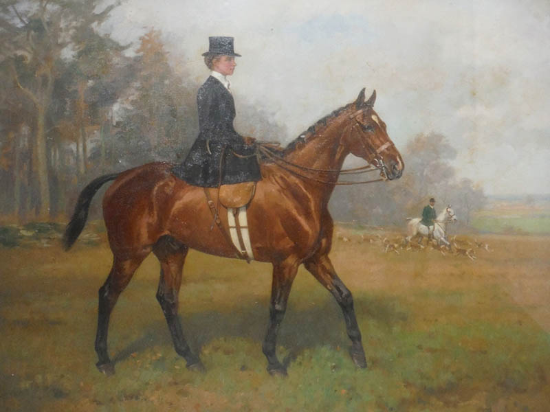 The-Cotswold-Auction-Company-Alfred Grenfell Haigh (1870-1963) Portrait of Lady on Horseback sold for £2,300