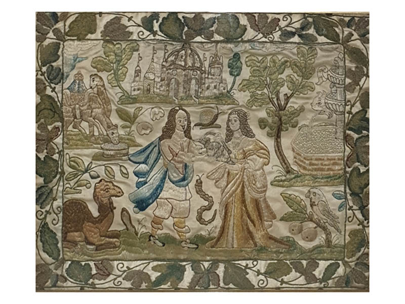 The-Cotswold-Auction-Company-Carolean 17th century stumpwork sold for £1,750