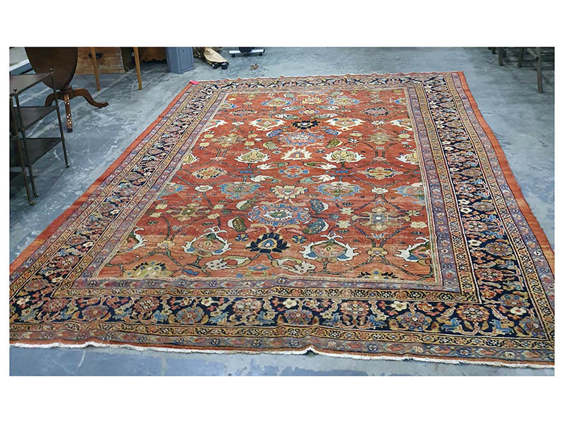 The-Cotswold-Auction-Company-Eastern red ground rug sold for £1,700