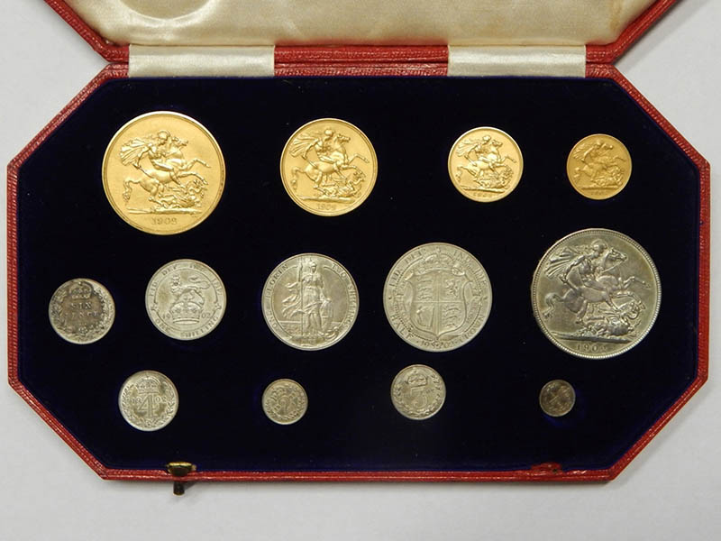 The-Cotswold-Auction-Company-Edward VII 1902 coronation 13 coin proof specimen set sold for £4,600