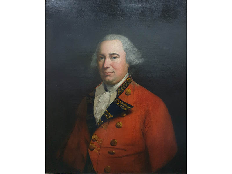 The-Cotswold-Auction-Company-Half length portrait of Georgian gentleman in red jacket sold for £1,350