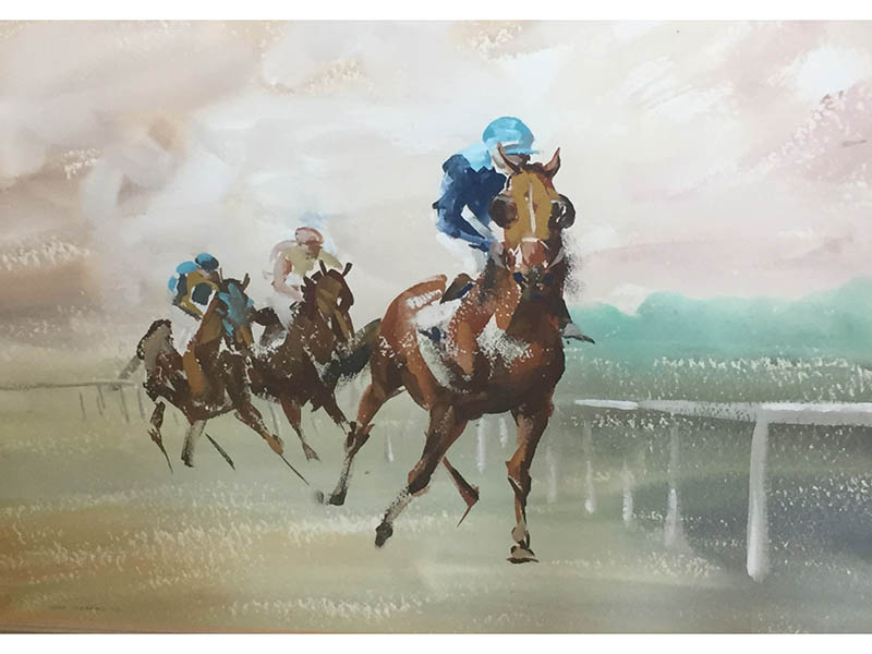The-Cotswold-Auction-Company-John Skeaping Racing scene sold for £400