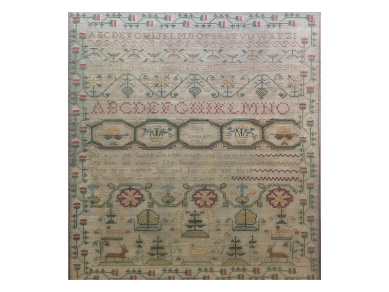 The-Cotswold-Auction-Company-Late 18th Century alphabet sampler sold for £4200