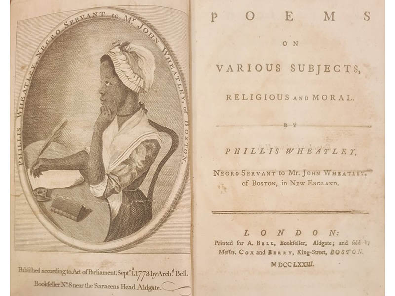 The-Cotswold-Auction-Company-Phillis Wheatley Poems on Various Subjects, Religios and Morals sold for £16,500