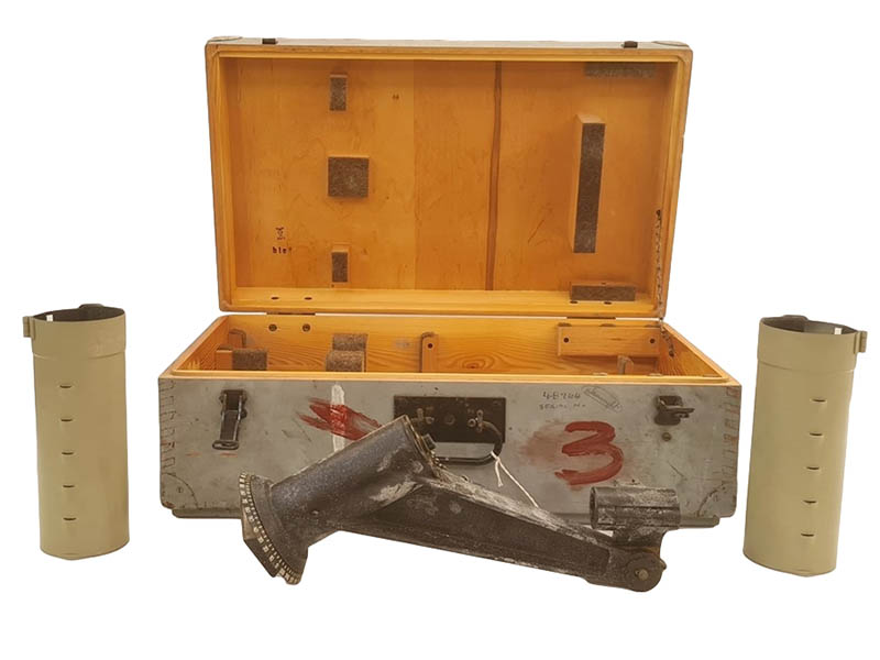 The-Cotswold-Auction-Company-Submarine Binocular Transit Box WWII German with part contents sold for £4,400
