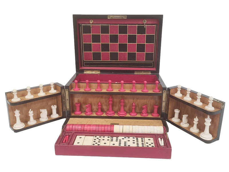 The-Cotswold-Auction-Company-The Royal Cabinet of Games coromandel games compendium sold for £450