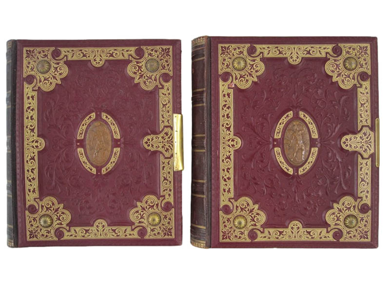 The-Cotswold-Auction-Company-Two ornate Victorian lockable stamp albums sold for £2,100