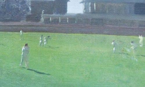 Douglas Stannus Gray oil cricket, est £1,000 - £2,000