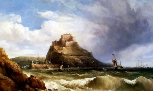 Henry Taylor King (1766-1869), oil on canvas, shipping off mont Orgueil, Jersey est. £2000-£3000 resized